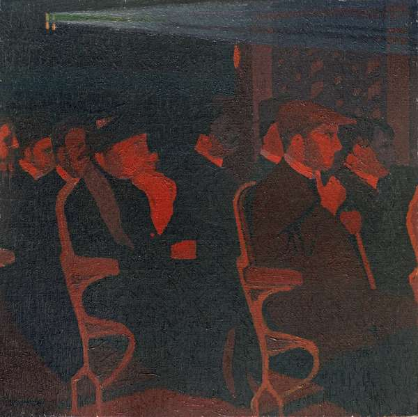 In the Cinema, c.1915 (oil on canvas)