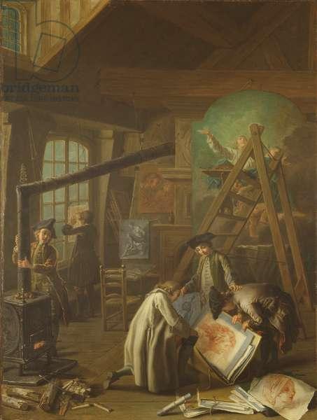 Interior of an Artist's Studio, 1755 (oil on canvas)