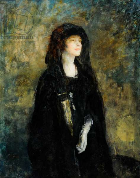 Mrs Claude Johnson in Black, 1922 (oil on canvas)
