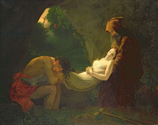 Les Funerailles d'Atala (oil on canvas)