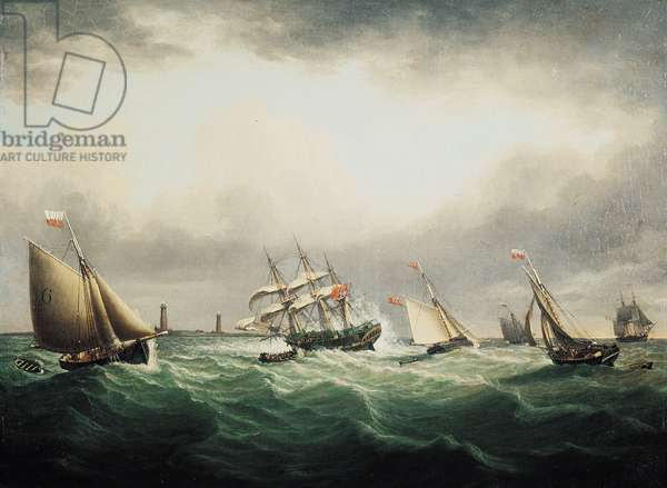The Wreck of the Ship, 'Thomas', off the Stony Binks on 8th June 1821, 1821 (oil on canvas)