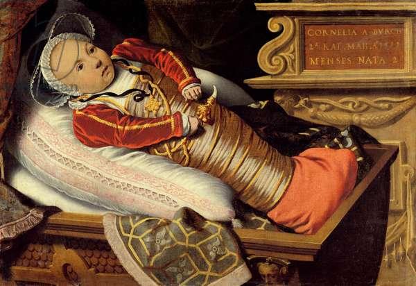 Portrait of Cornelia Burch aged 2 Months, 1581 (oil on canvas)