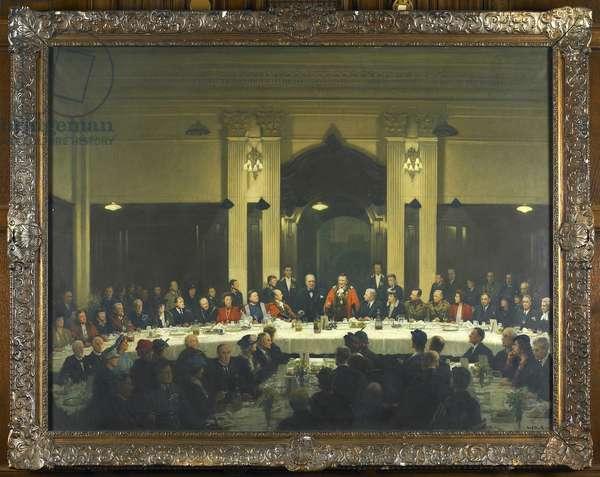 Visit of Sir Winston Churchill (The Tarran Luncheon), 1945 (oil on canvas)