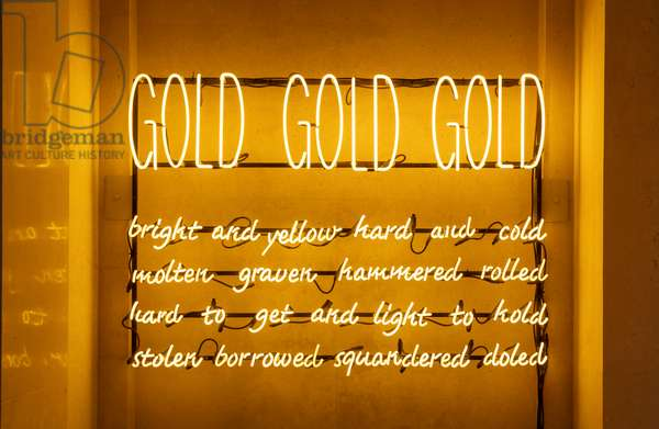 Untitled (Gold), 2009 (neon&glas)