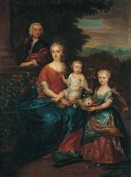 Family Group, 1720s (oil on canvas)