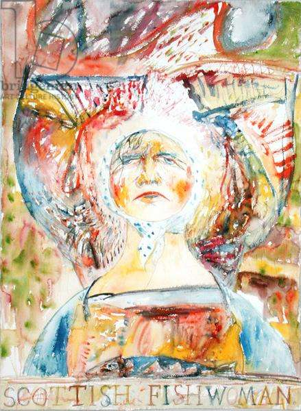 Scottish Fishwoman, 1988 (w/c on paper)