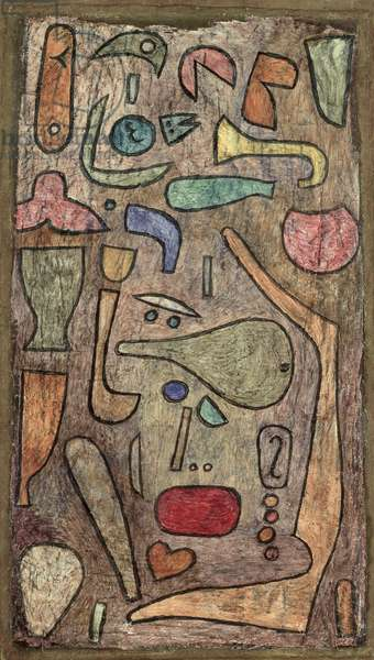 Motley medley, 1939 (no 348) (w/c and oil on canvas on cardboard)