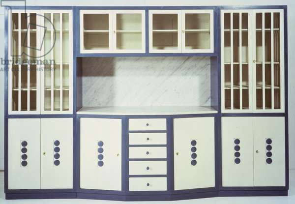 Cabinet, made by the Weiner Werkstatte, 1906 (painted wood and marble)
