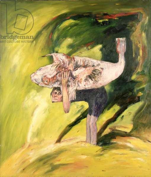 The Burden, 1971 (oil on canvas)