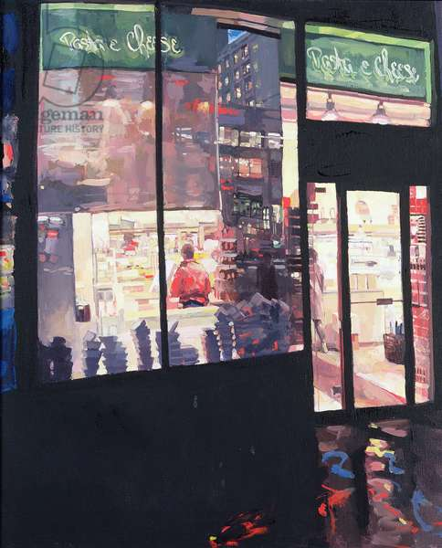 Pasta and cheese shop, 1988 (oil on canvas)