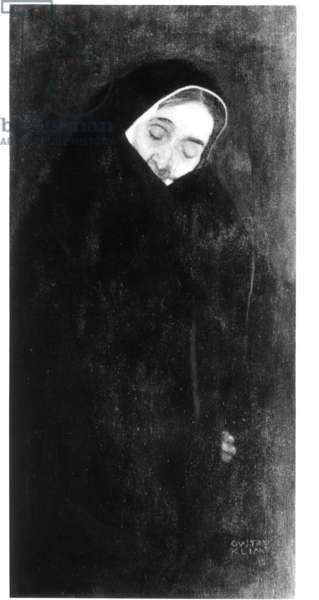 Old Woman, 1909 (oil on canvas) (b/w photo)