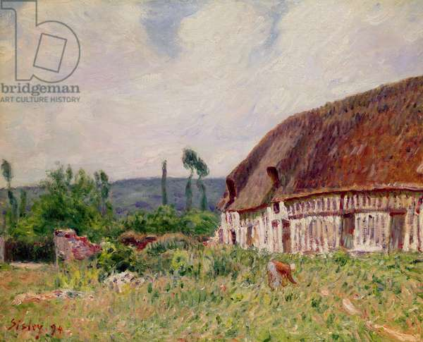 Thatched Cottage in Normandy, 1894 (oil on canvas)
