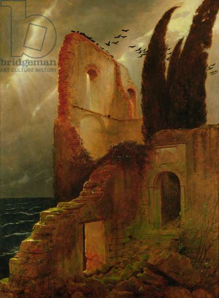 Ruin by the Sea, 1881 (oil on canvas)