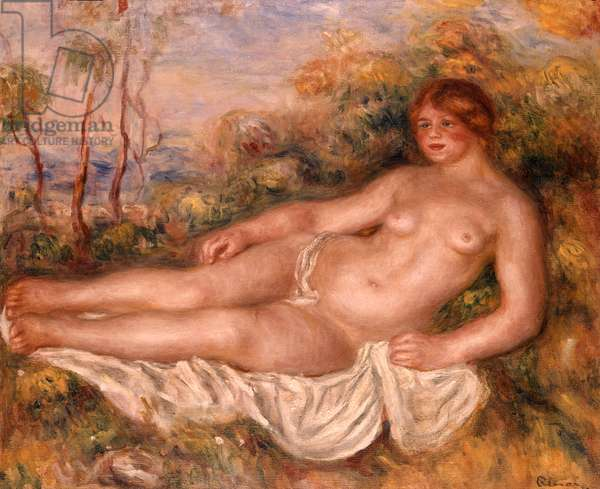 The Reclining Bather (La Baigneuse Couchee) 1906 (oil on canvas)