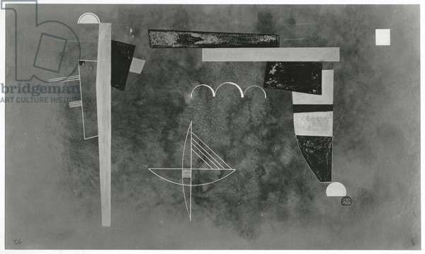 Over, 1932 (gouache on paper) (b/w photo)