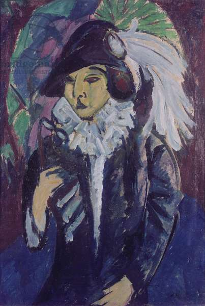 Lady in the Park, 1912 (oil on canvas)
