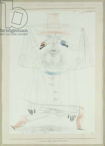 The Wild Man, 1922 (no 209) (pencil and coloured crayons on paper on cardboard)