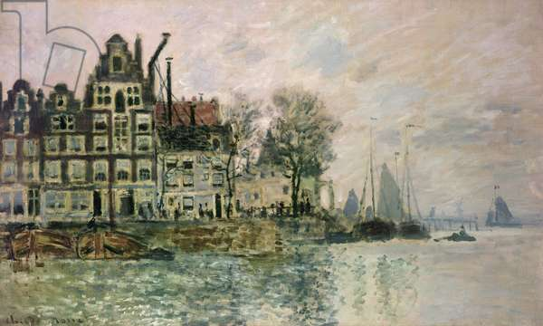 The Port of Amsterdam, c.1873 (oil on canvas)