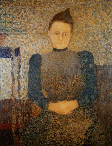 Portrait of Mlle Vuillard, Sister of the Artist, 1892-93 (oil on canvas)