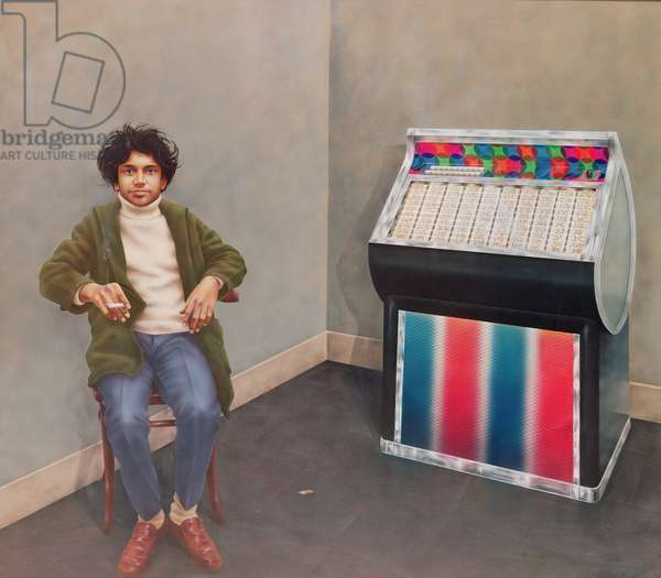 Boy with Jukebox (James Ross) 1976 (acrylic on canvas)