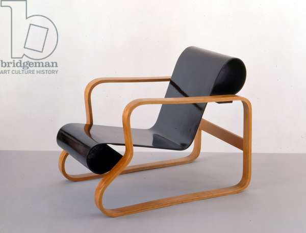 Armchair 41 'Paimio', 1931/32 (bent laminated wood frame, lacquered)