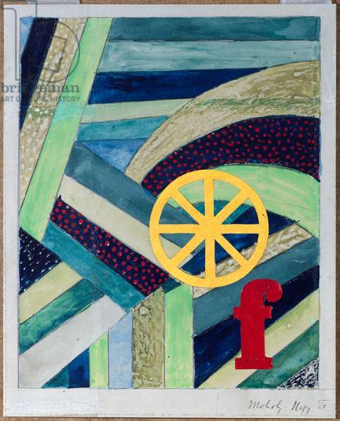 F in Feld, 1920 (collage & w/c on paper)