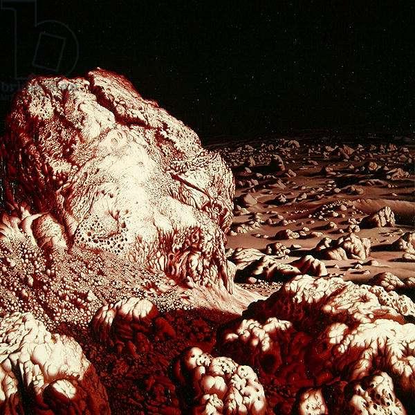 New Landscape, 1974-75 (oil on eloscal)