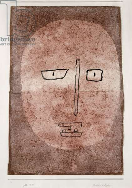 Mask with three teeth, 1932 (no 215) (w/c on primed paper on cardboard)