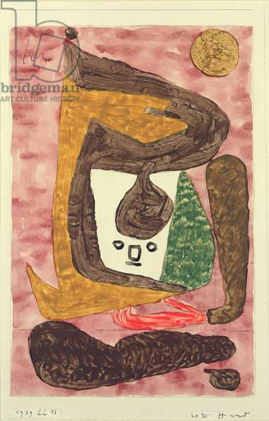 Red Hand, 1939 (coloured paste, w/c & pencil on paper on cardboard)