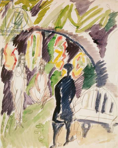 Divan (Couch) 1912-14 (w/c & pencil on paper)