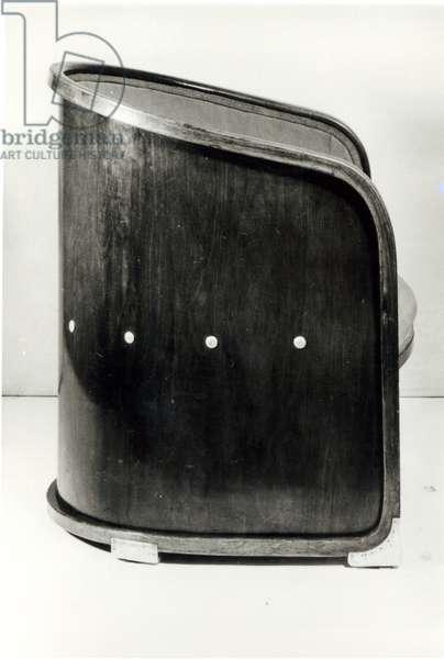 Armchair, c.1901 (beech, stained mahogany, aluminium)