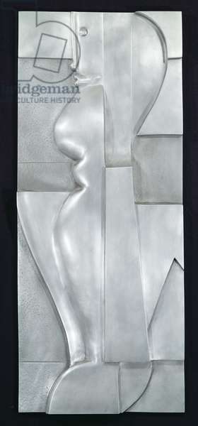 Relief H. Abstract Figure, 1919 (aluminium)