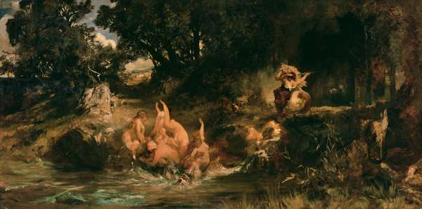The Mermaids and the Tiger, 1872-73 (oil on canvas)