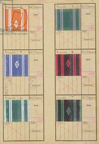Vienna Artists Wallpaper Designs - 'Rhombus' (gouache) (see also 274449)