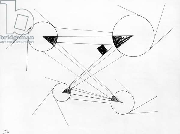 Untitled, 1932 (pen and indian ink) (b/w photo)