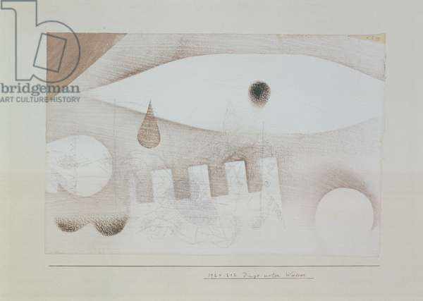 Things under Water, 1924 (white gouache)