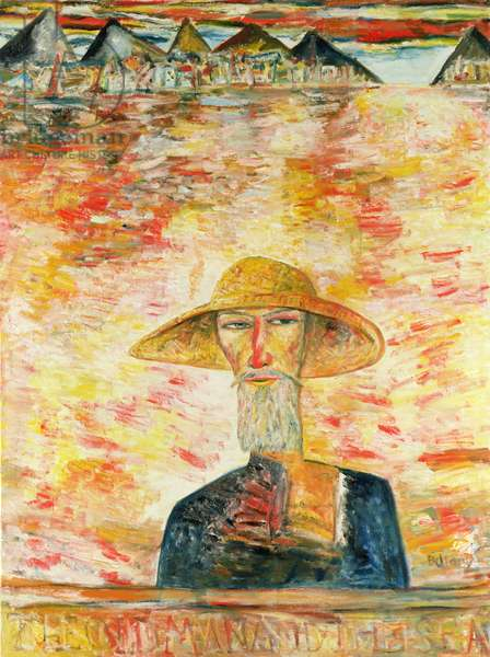 The Old Man and the Sea (oil on canvas)