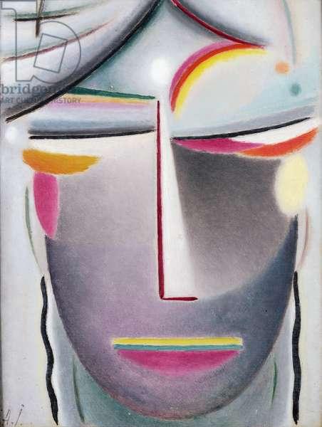 Head (Dark Buddha), c.1927 (oil on canvas laid down on board)