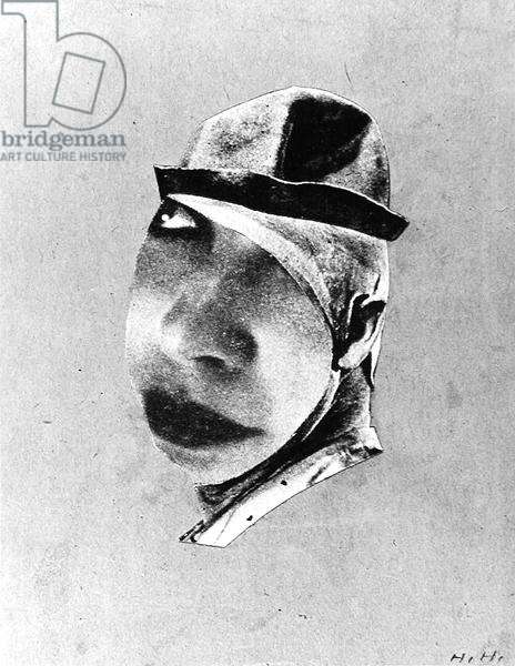 Clown, 1924 (collage) (b/w photo)