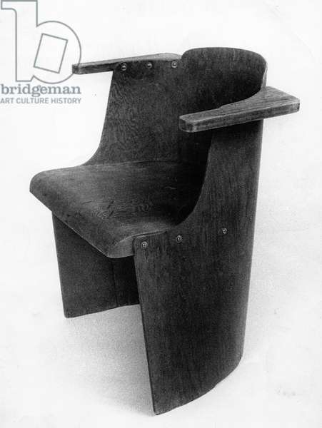 Chair, 1930 (wood on fibreboard)