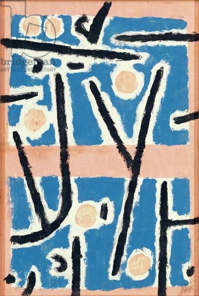 Untitled (Signs of Growth) 1937 (coloured paste, tempera and chalk on paper)