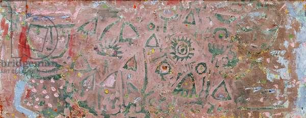 In the flower garden, 1937 (no 31) (oil on muslin on cardboard)