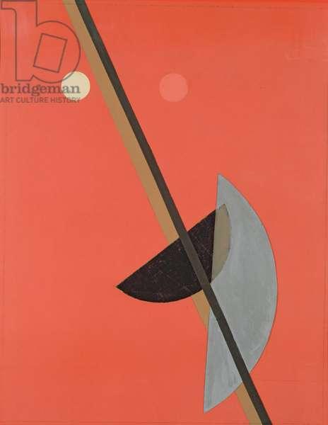 K 15, 1923 (gouache & collage)