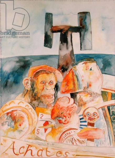 Achates, 1986 (w/c on paper)