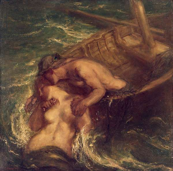 The Fisherman and the Mermaid, 1901-03 (oil on canvas)