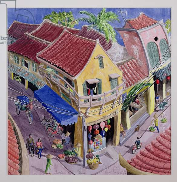 Street Corner, Hoi An, Vietnam (oil on canvas)