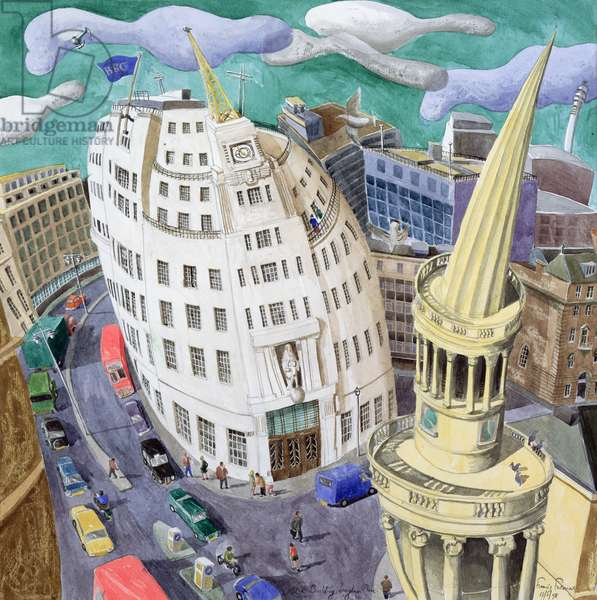 BBC Building, Portland Place, 1998 (w/c on paper)
