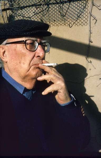 Portrait of Andrea Camilleri, Italian writer, Rome 2001.