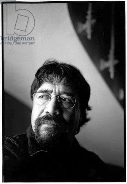 Portrait of Luis Sepulveda, Paris, 2001.