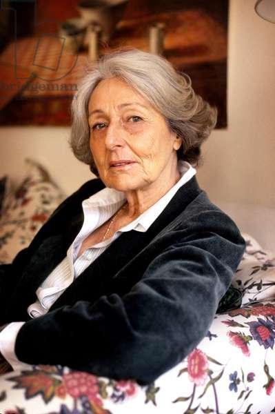 Portrait of the Italian writer Rosetta Loy, Paris.